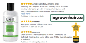 the best gel formula for ingrown hairs
