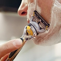 The best gift this year for anyone who shaves (pretty much everyone)  Do you have a hard to shop for person on your list this year?  Check out the personalized ProShield® Razor from Gillette.