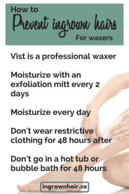 Prevent ingrown hair if you wax