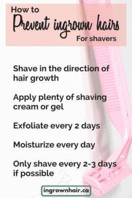 Prevent ingrown hairs if you shave