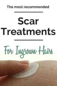 Scar treatments from ingrown hairs