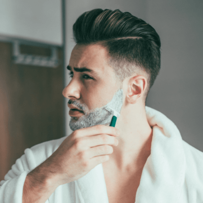Shaving with good quality products can help prevent ingrown hairs